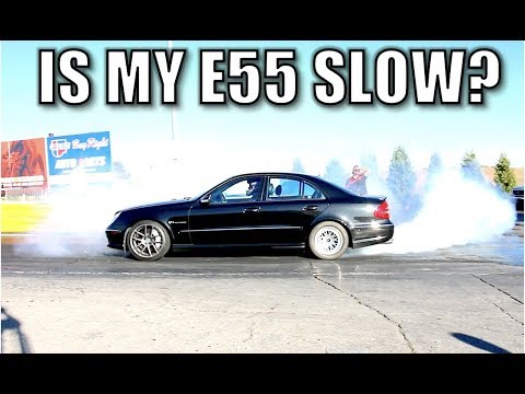 I took my Modified E55 AMG to the Quarter Mile Drag Strip. Unexpected results.