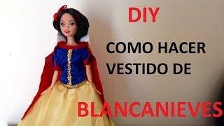 TRANSFORMA TU MUÑECA EN BLANCANIEVES/how to dress a dolls snow white