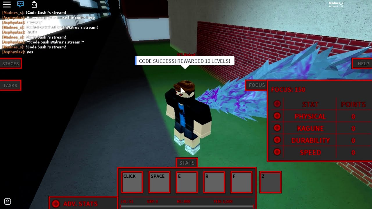 Roblox Ro Ghoul Codes Wiki 2018 - Free Robux Inspect Code