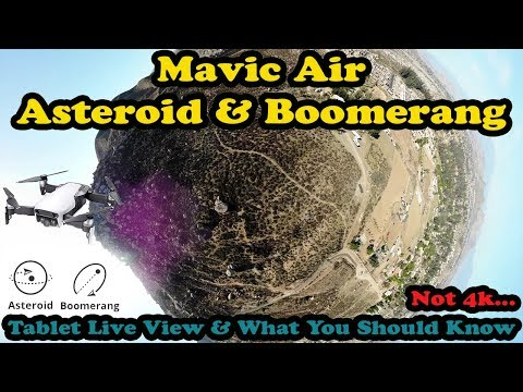 DJI Mavic Air Boomerang And Asteroid-What You Need To Know About Asteroid