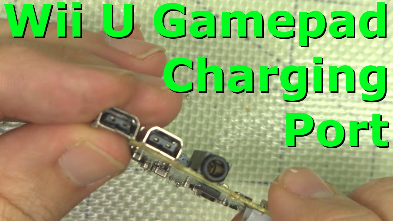 replace wii u gamepad charging port how to demonstration replace wii u gamepad charging port how to demonstration