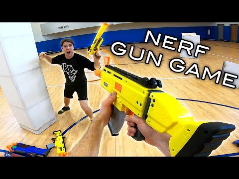 NERF GUN GAME | Aaron Vs Josh Horton! (First Person Shooter)