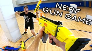NERF GUN GAME | Aaron Vs Josh Horton! First Person Shooter