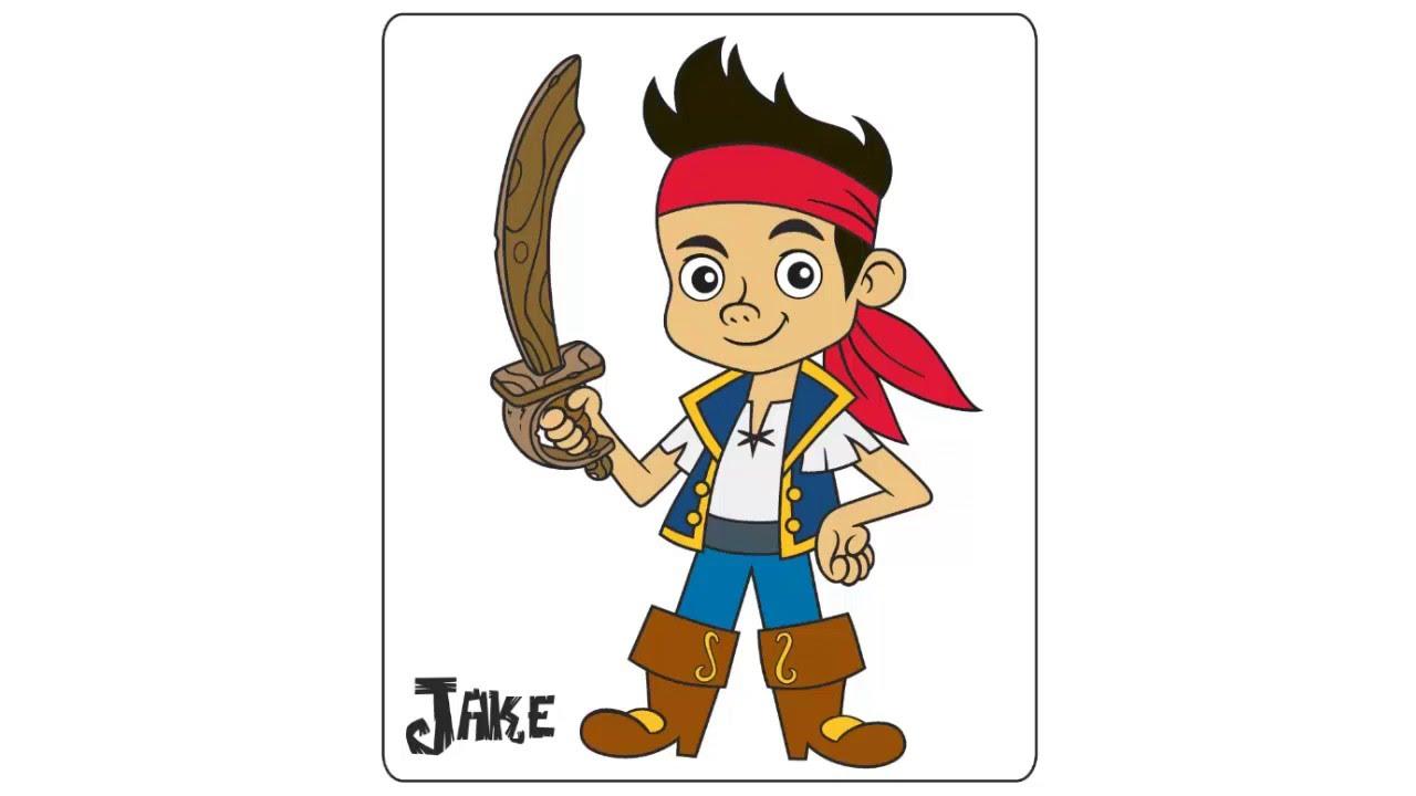 como dibujar y pintar a jake y los piratas - YouTube