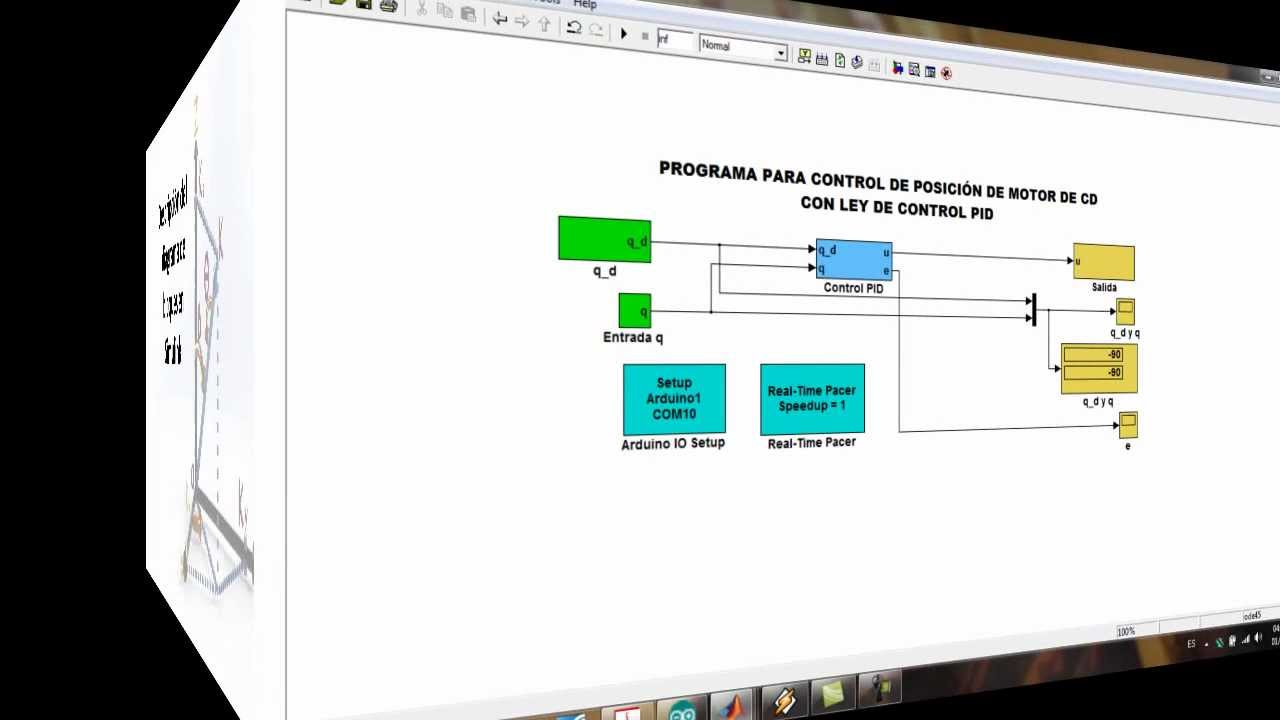 Pid Control Of A Dc Motor With Arduino And Matlab Simulink