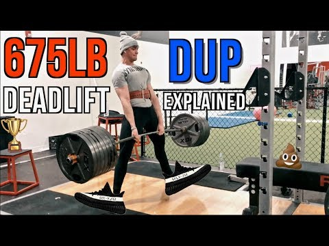 YEEZY GIVEAWAY!!! | 675lb Deadlift | DUP Explained
