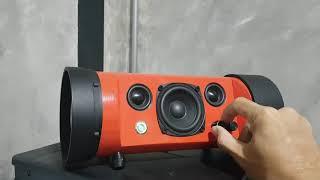 DIY PVC pipe boombox