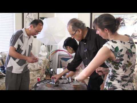 Plexiglass and Other Tricks and Tips  to Create Textures in Chinese Brush Painting (3/6)