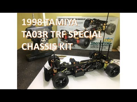 1998 TAMIYA TA03R TRF SPECIAL CHASSIS KIT ASSEMBLY AND DRIVING VIDEO