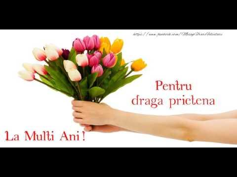 felicitari de ziua de nastere pentru prietena Felicitare muzicala de zi de nastere   La multi ani, Draga  felicitari de ziua de nastere pentru prietena