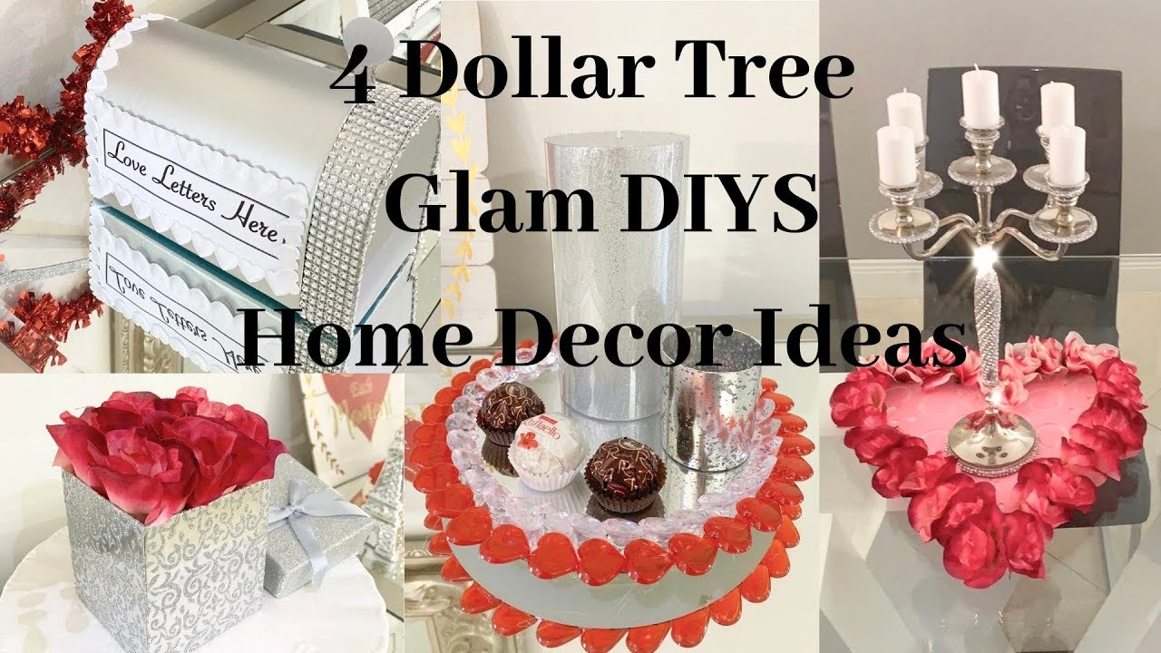 Dollar Tree 4 DIY GLAM Valentines, Wedding, Home Decor