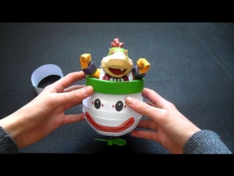 Papercraft Bowser Jr And His Koopa Clown Car Youtube