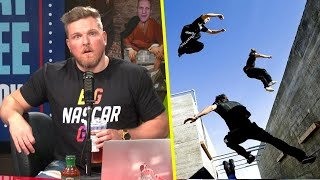 Pat McAfee Is Obsessed With Parkour Videos