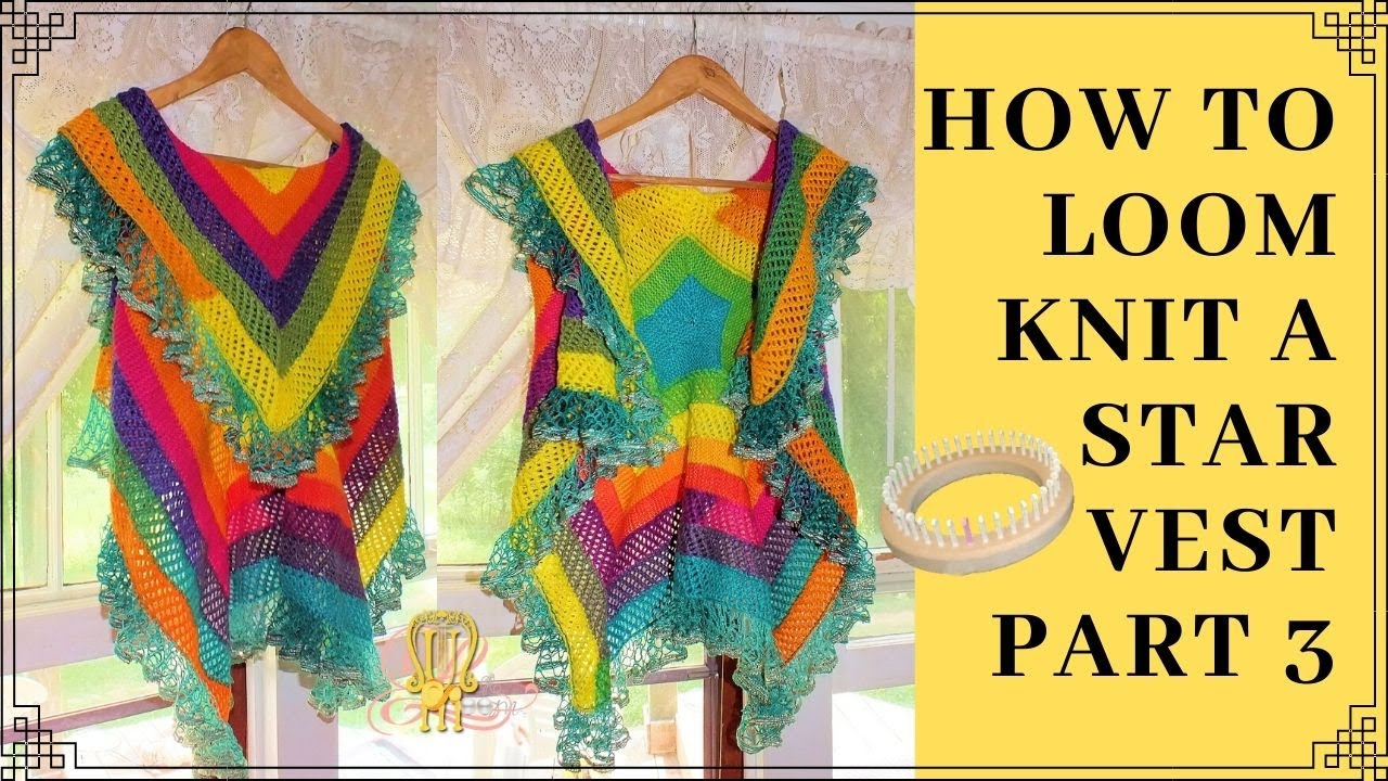How To Loom Knit A Ruffle Edge To A 10 Stitch Blanket Youtube