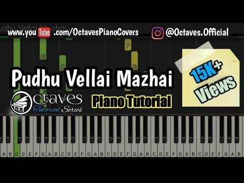 Pudhu Vellai Mazhai   Piano Tutorial   Octaves