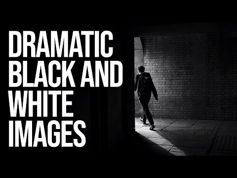 How I create Dramatic Black and White images for Instagram