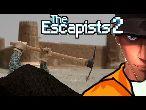 The Escapists 2 DIGGING TO THE OLD MINE Rattlesnake Springs | Let's play The Escapists 2 Gameplay