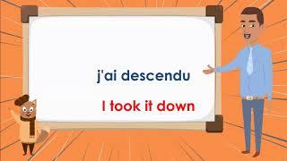 Le Verbe Descendre Au Passe Compose To Go Down Compound Tense French Conjugation Youtube