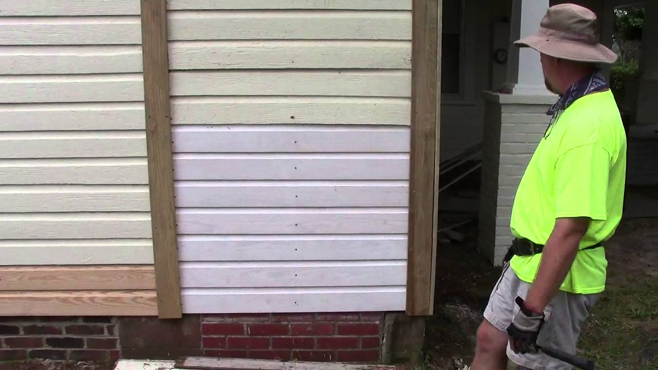 Wooden Siding House Repair Youtube