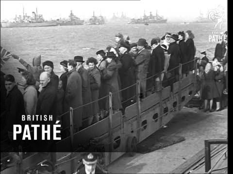 Return Of Ship King George V To Portsmouth (1940-1949)