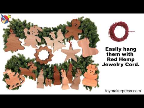 Wood Toy Plans - Easy to Make Christmas Ornaments