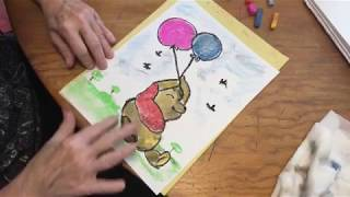 How to Draw Winnie the Pooh in Chalk Pastels