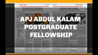 Biotecnika Times - APJ Abdul Kalam Postgraduate Fellowship, Best Life Science Journals & Much More