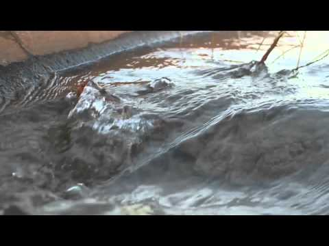 Water flow from an irrigation canal in Arizona