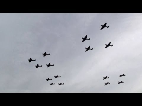 16 Spitfires Flying Together The Sound of Victory