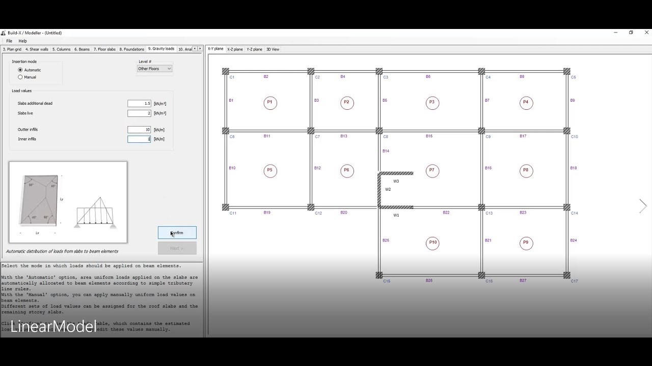 Build-X 2 0 freeware for Structural Analysis using OpenSees (linear elastic  analysis)