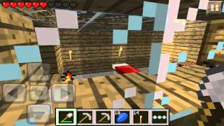 Minecraft Pocket Edition Survival - Episode 5 - Glass and Spiders