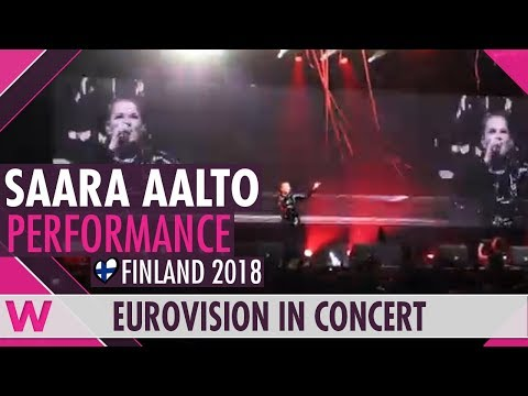 "Saara Aalto ""Monsters"" (Finland 2018) LIVE @ Eurovision in Concert 2018"