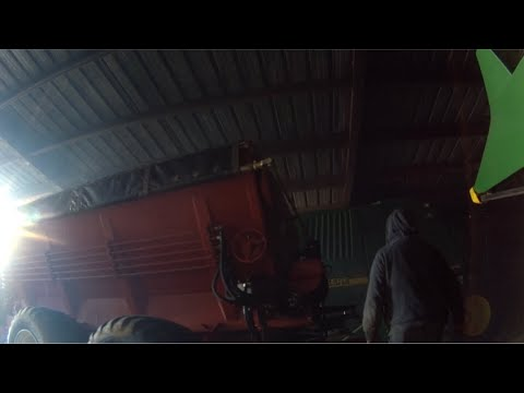 Getting the liquid fertilizer tank truck and the fertilizer spreader out and ready