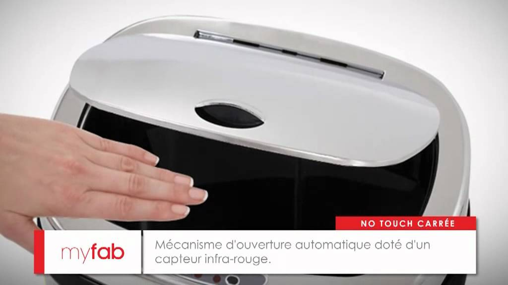 poubelle automatique carrée 50l par myfab - youtube