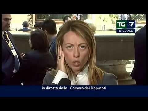 """Meloni """"in piazza per dire no a Prodi"""""""