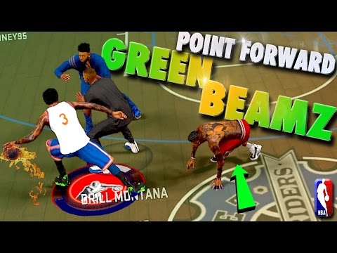 POINT FORWARD GREEN Release Game Point Badge! - NBA 2K17 MyPark 3v3