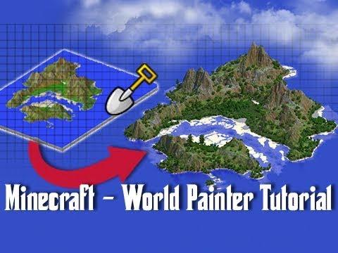 World Painter TUTORIAL - How To Create Custom Minecraft Maps!