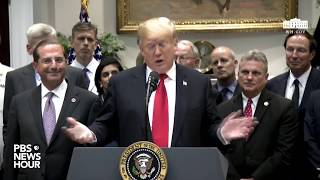 WATCH: President Trump signs two heath care-related bills
