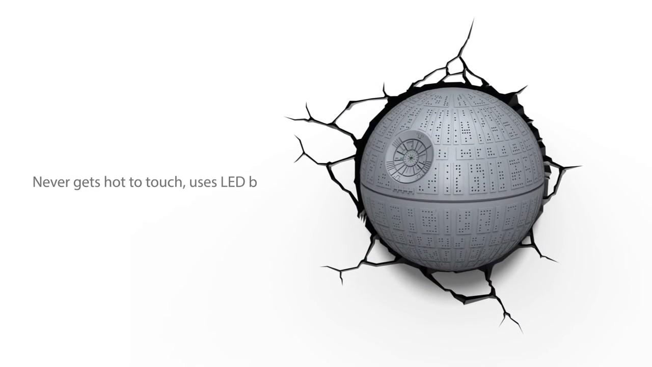 La Lampe Murale Etoile De La Mort Star Wars Youtube