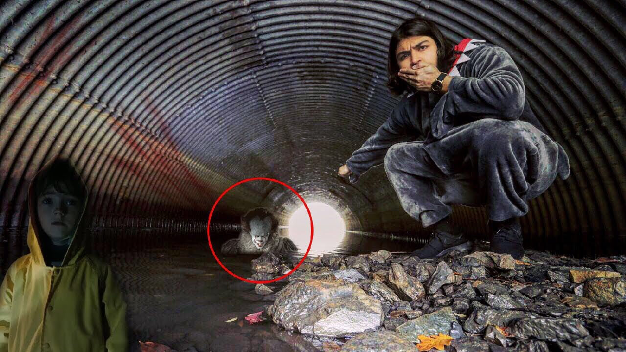 i went inside the sewer to find georgie from it pennywise was