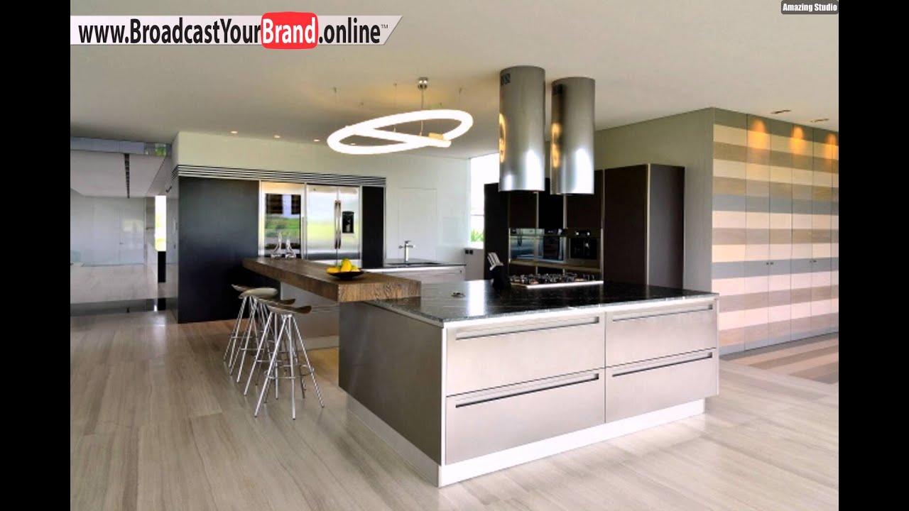 Wohnideen Küche Modern Creme Braun Kronleuchter