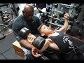 Road to the O 2018 - Tristyn Lee trains Chest with Shawn Rhoden & Stanimal 4 W Out