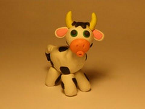 Уроки лепки для детей.Урок 12. Корова - YouTube