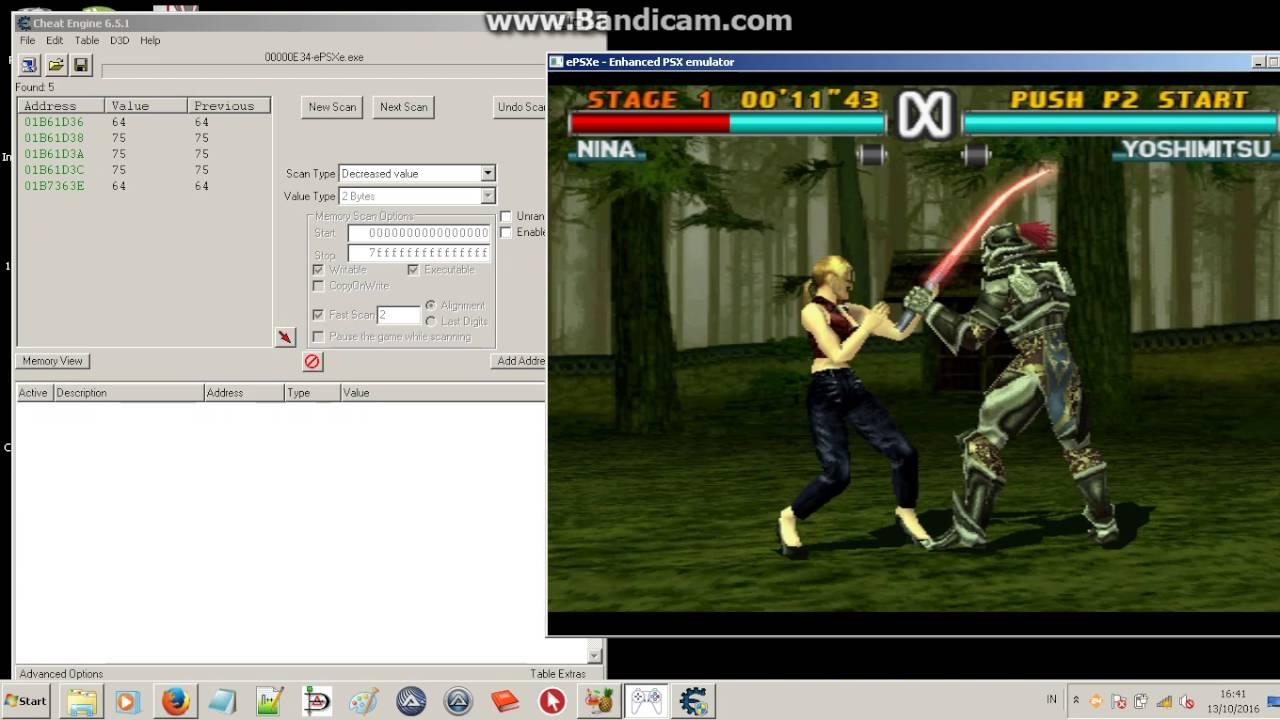 Tekken 3 Cheat Engine My Health HACK