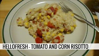 TOMATO AND CORN RISOTTO WITH PANCETTA