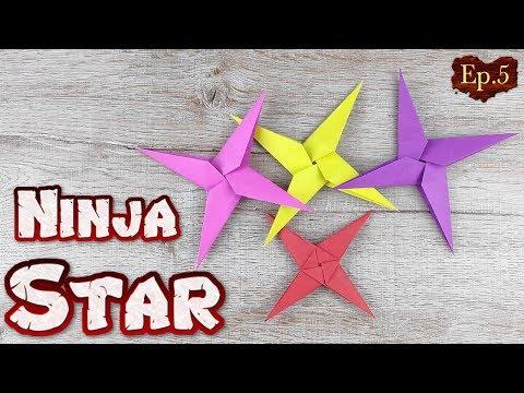 Ninja Star Origami | How To Making a Ninja Weapons Paper Tutorials | DIY Paper Blade Shuriken Ep.5