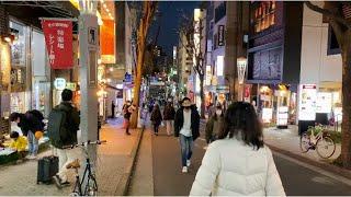【4K】Tokyo Evening Walk  Kagurazaka, 2020