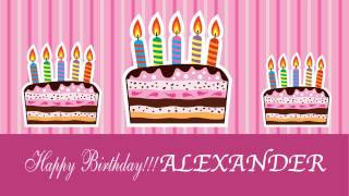 Alexander - Animated Cards - Happy Birthday