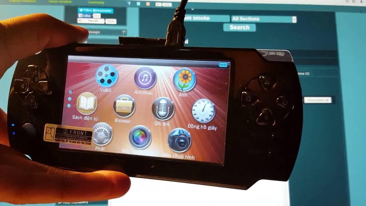 Hướng dẫn tải và cop game vào máy chơi game cầm tay A8