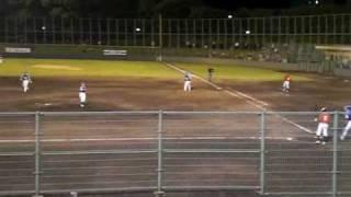 2009年6月12日 9回に登板した吉田えり投手の投球。 無死1塁 1番近藤...
